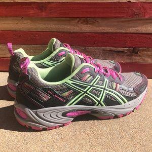 EUC ASICS Running Shoes 7.5 Pink Glow Titanium
